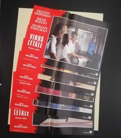 """1995 * Set 6 Affiches De Cinéma """"Virus Letale (Outbreak) - M Freeman, Dustin Hoffman"""" Drame (B)"""