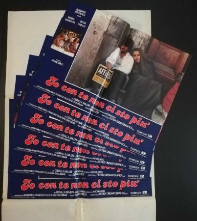 """1983 * Set 6 Affiches De Cinéma """"Io Con Te Non Ci Sto Più - Gianni Amico, Guerritore"""" Comédie (B)"""