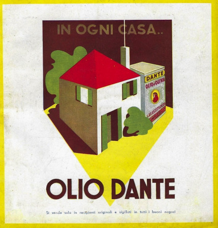 """1934 * Publicité Original """"Olio Dante - In Ogni Casa.."""" dans Passepartout"""