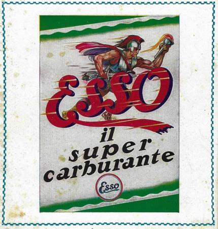 """1929 * Publicité Original """"Esso - Il Super Carburante"""" Couleur dans Passepartout"""