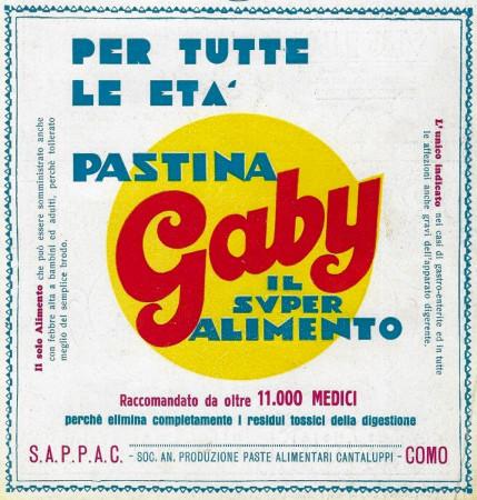 """1929 * Publicité Original """"Pastina Gaby - Il Super Alimento Per Tutte le Età"""" dans Passepartout"""