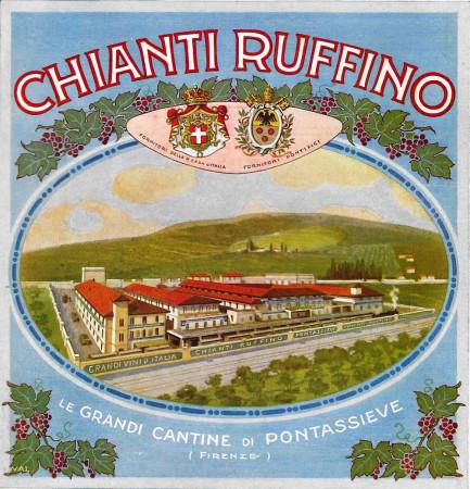 """1931 * Publicité Original """"Chianti Ruffino - Cantine di Pontassieve - VAL."""" dans Passepartout"""