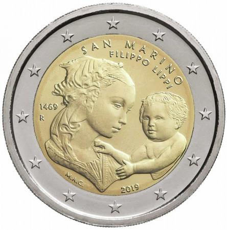 """2019 * 2 Euro SAINT MARIN """"550e Mort de Filippo Lippi"""" BU"""