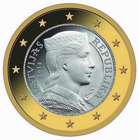 2014 * 1 euro Lettonie jeune fille letton