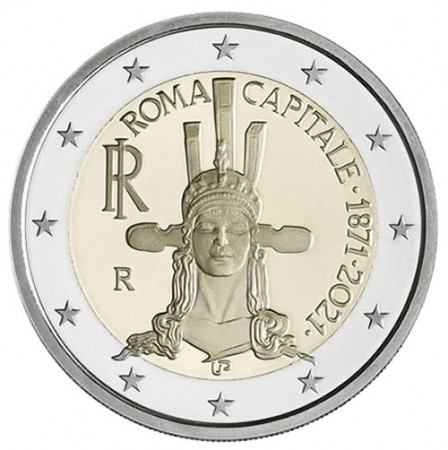 "2021 * 2 Euro ITALIE ""150e Rome Capitale de l'Italie"" UNC"