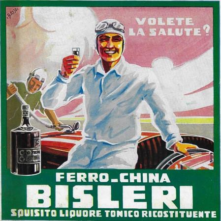 """1932 * Publicité Original """"Ferro-China Bisleri (Verde) - BASSI"""" dans Passepartout"""