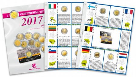 2 Feuilles + Pochettes 2 Euro Commémorative 2017 - Partie 1 * ABAFIL