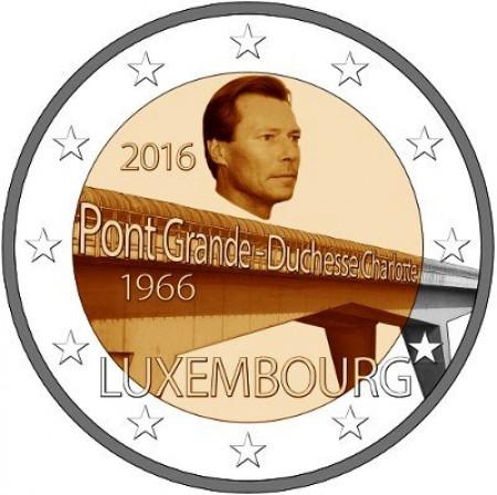 "2016 * 2 Euro LUXEMBOURG ""Pont Grande-Duchesse Charlotte"" UNC"