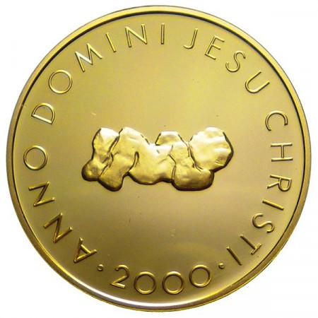 """2000 * 100 Francs or Suisse """"Bimillénaire du Christianisme"""""""