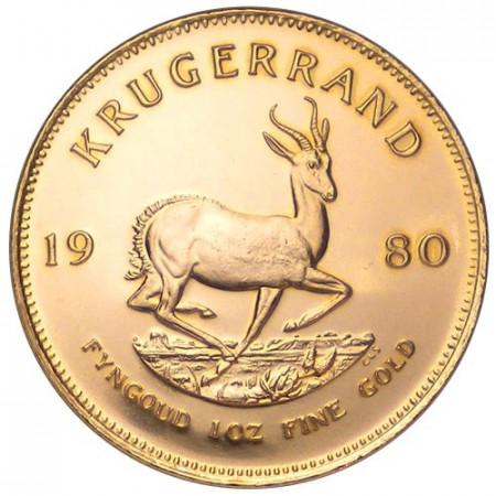 1980 * 1 krugerrand or Afrique du Sud Gazelle