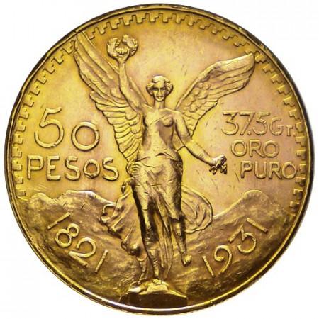 1931 * 50 pesos Mexique en or SUP