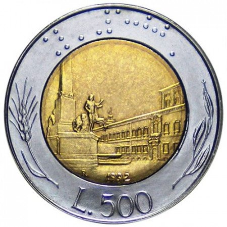 1992 * 500 lire Italie Palais du Quirinal