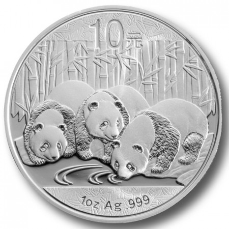 2013 * 10 Yuan en argent 1 OZ Chine Panda