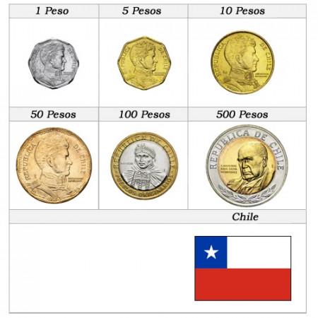 Ans Divers * Série 6 pièces Chili