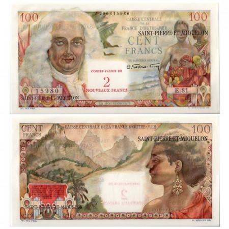 1963 * Billet Saint-Pierre-et-Miquelon 2 NF sur 100 francs SUP