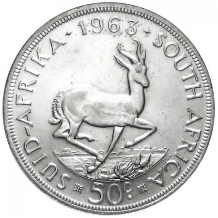 1963 * 50 centimes Afrique du Sud TTB Springbok