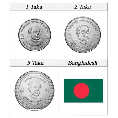 Ans Divers * set taka 3 pièces Bangladesh Nouveau Design