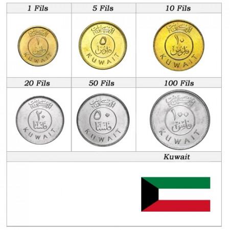 Ans Divers * Série 6 pièces Koweït