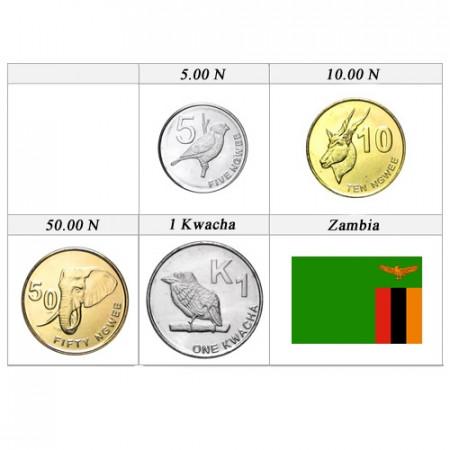 2012 * Série 4 pièces Zambie
