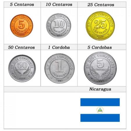 Ans Divers * Série 6 pièces Nicaragua