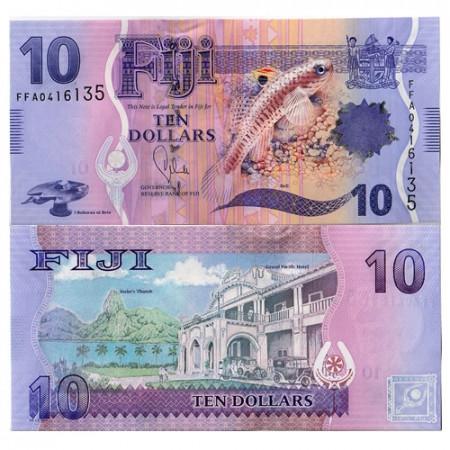 """2012 * Billet Fidji 10 Dollars """"Beli Fish"""" (p116a) NEUF"""