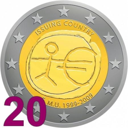 2009 * 20 pieces 2 euro UEM EMU