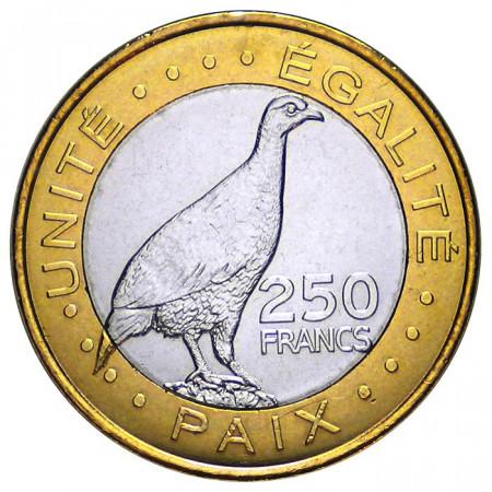 2012 * 250 francs Djibouti oiseau Francolin