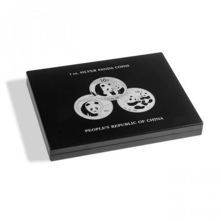 Coffret pour 20 monnaies Panda argent en capsules, noir * LEUCHTTURM