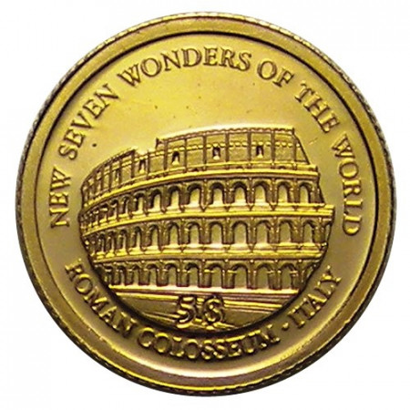 "2011 * 5 Dollars or Îles Salomon ""Colisée Romain - Italie"""
