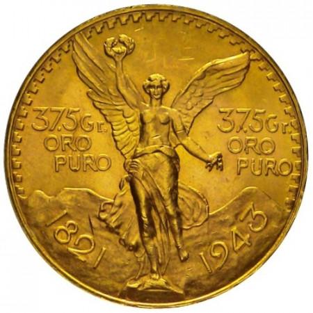 1943 * 50 pesos Mexique or Centenaire de l'Indépendance