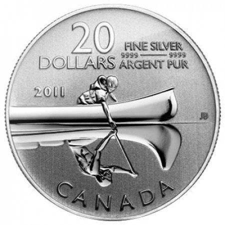 2011 * 20 Dollars Canada Canoë