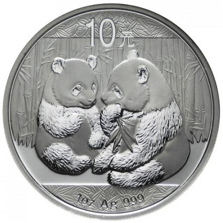 2009 * 10 Yuan en argent 1 OZ Chine Panda