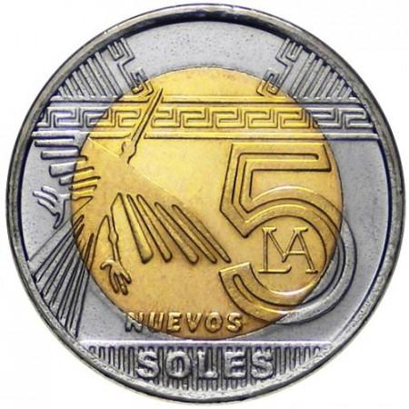 2011 * 5 nuevos soles Pérou Géoglyphes de Nazca Condor