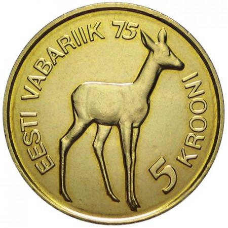 1993 * 5 krooni Estonie Indépendance