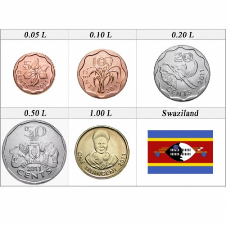 2011 * set 5 monnaies Swaziland
