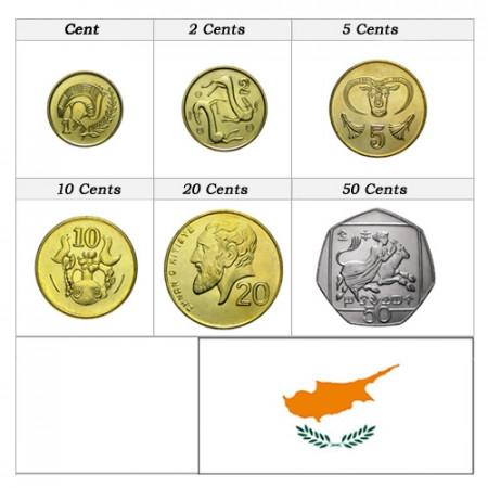 Ans Divers * Série 6 pièces Chypre