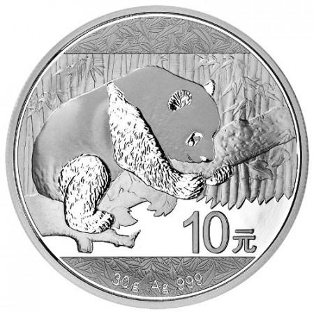 """2016 * 10 Yuan en argent (30gr) Chine """"Panda"""" FDC"""