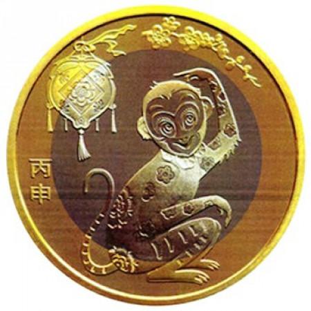 """2016 * 10 Yuan Chine """"Année de la Singe"""" UNC"""