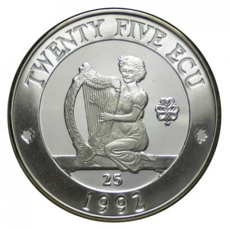 "1992 * 25 Ecu Argent Irlande du Nord ""Hibernia"" (X 3.1) PROOF"