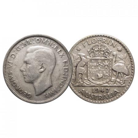 "1947 * 1 Florin Argent Australie ""Armoiries - George VI"" (KM 40a) TTB"