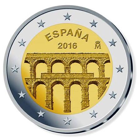 """2016 * 2 Euro ESPAGNE """"Vieille Ville et Aqueduc de Ségovie"""" UNC"""