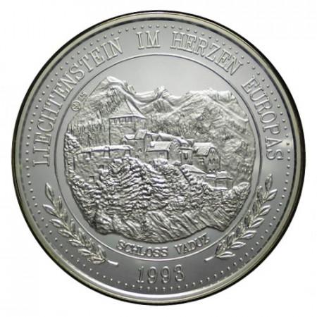 """1993 * 20 Ecu Argent 1 OZ Liechtenstein """"Château de Vaduz"""" (X 22) BE"""