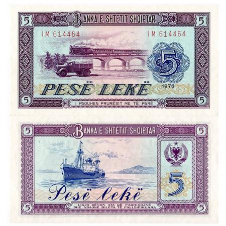 1976 * Billet Albanie 5 Leke (p42a) NEUF