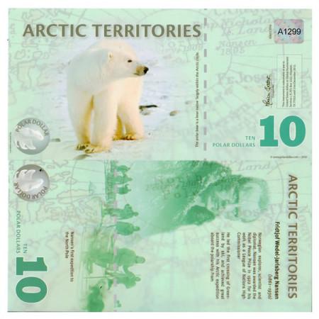 2010 * Billet Polymère Territoires Arctique 10 dollars NEUF