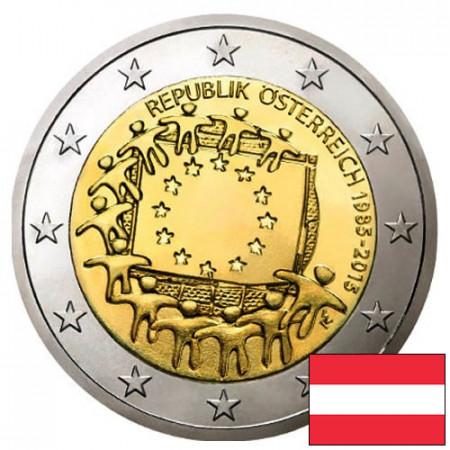 """2015 * 2 Euro AUTRICHE """"30e Anniversaire du Drapeau Européen"""""""