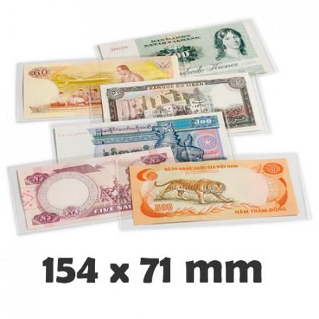 Pochettes de Protection BASIC 166 pour Billets (160 x 75 mm) * LEUCHTTURM