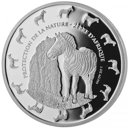 """2015 * 1000 Francs 1 OZ Bénin """"Zèbre"""" BE"""