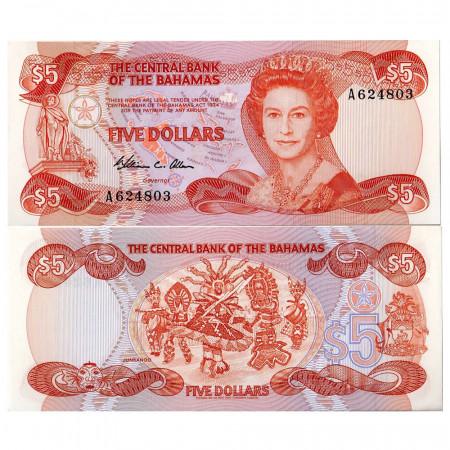1984 * Billet Bahamas 5 dollars NEUF