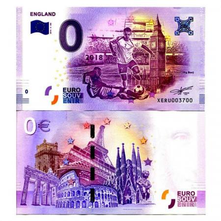 "2018-4-EN * Billet Souvenir Allemagne Union Européenne 0 Euro ""FIFA World Cup - England Team"" NEUF"