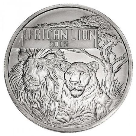 """2015 * 5000 Francs 1 OZ Burundi """"Lion Africain"""""""